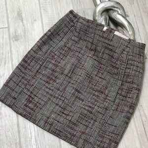 Banana Republic Black Tweed Pencil Straight Skirt